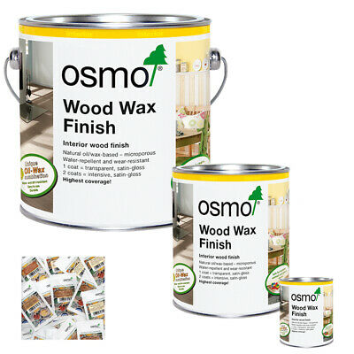 Osmo Wood Wax Finish Transparent in 15 Colours & 5ml, 125ml, 750ml & 2.5 Litres