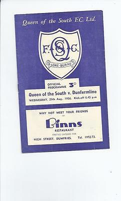 Queen of the South v Dunfermline League Cup 1956/57 August 29th