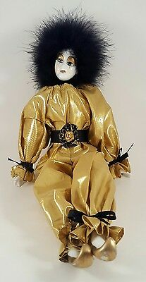 MARDI GRAS, JESTER or PIERROT COLLECTIBLE DOLL