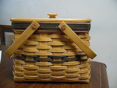 Longaberger Collector's Club Harbor Basket, Protector And Lid