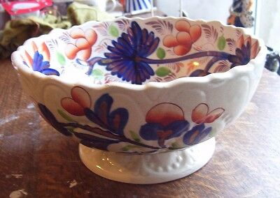 Gaudy Welsh Large Bowl A/f