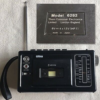 Ultra Vintage Stereo Radio Tape Player Recorder Late 1970 Rare Model 6282
