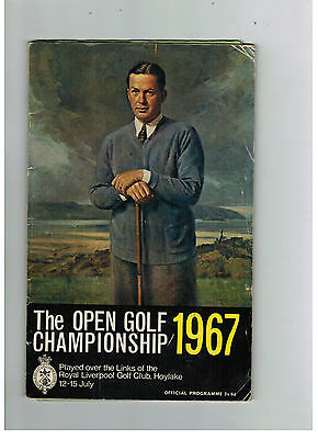 OPEN GOLF CHAMPIONSHIP 1967 programme - Hoylake  - and draw sheet!