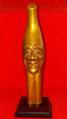 "Large 16"" Tall Mid Century Bronze Sculpture, Signed Illegibly"