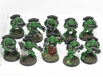 SALAMANDERS TACTICAL SQUAD  -  Painted 40K Space Marine Army