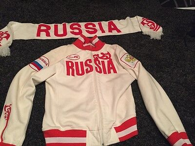 Official 2010 Vancouver Olympics Team Russia Sweater And Scarf