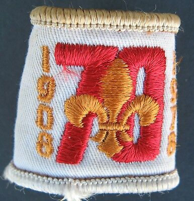Vintage Boy Scouts Canada 70Th Anniversary Embroidered Toggle 1908-1978 Slide