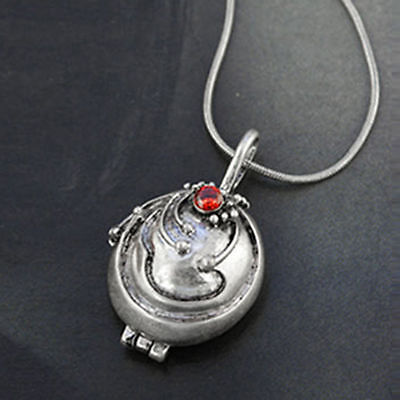 The Vampire Diaries Elena's Vervain Antique Silver Locket Vintage Necklace Chain
