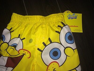 Nicklodeon SPONGE BOB SQUAREPANTS Baby Boys 18 Month Boxer Swim Trunks w/UPF 50+