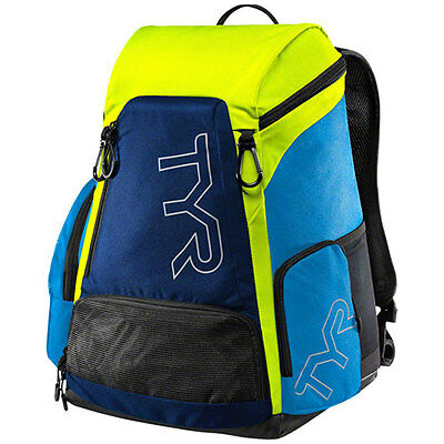 TYR Alliance 30L Backpack: Blue/Green