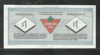 Canadian Tire Replacement Note  9990250911  Unc
