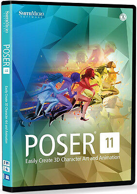 Poser 11 by Smith Micro, New Retail Box - PSR11HDVD