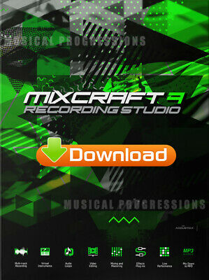 Mixcraft 8 Recording Studio - Audio Music Software - Digital - Windows - New
