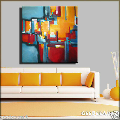 Extra Large Square Abstract Original Painting Canvas Modern Office Art Bright