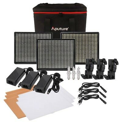 Aputure Amaran LED Video Lighting Kit AL-528S AL-528W x 2 CRI95+ Light Panel
