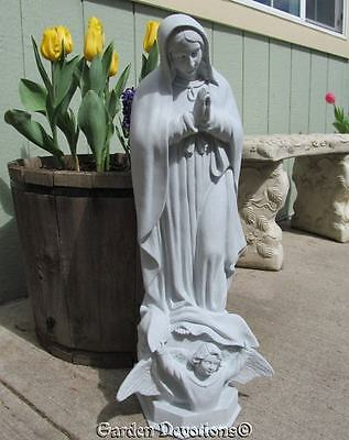 """Nice! ~ 24"""" OUR LADY OF GUADALUPE MARY STATUE Indoor Outdoor Garden Decor"""