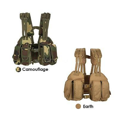 Outdoor Tactical Chest Rig Adjustable Padded Military Vest Pouch Holder Bag N1K5