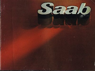 1977 SAAB Brochure / Catalog with Color Chart: 99,GL,GLE,EMS,3,4,5 Door,