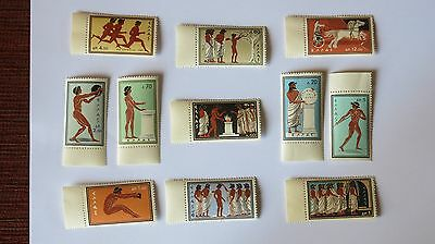 Serie 11 Timbres Grece Neuf Jo Rome 1960