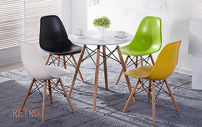 Round Dining table and 4 chairs retro  DSW Eiffel