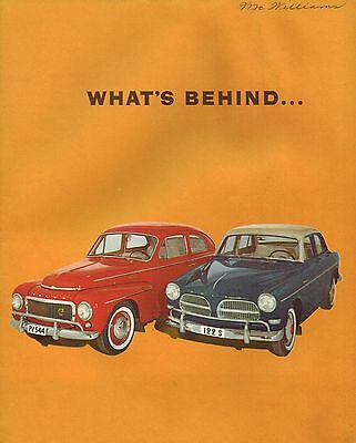 1960?1961 What's Behind a VOLVO Quality / Promo Brochure: P1800,PV544,122 S,SAS