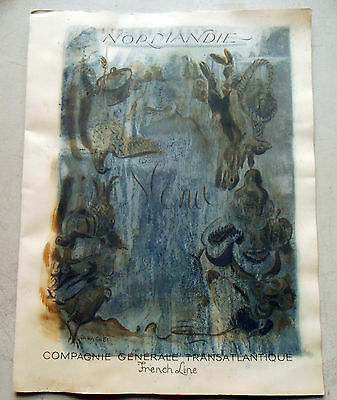 Original Menu From The SS Normandie Dated 17 July 1937 Good Condition