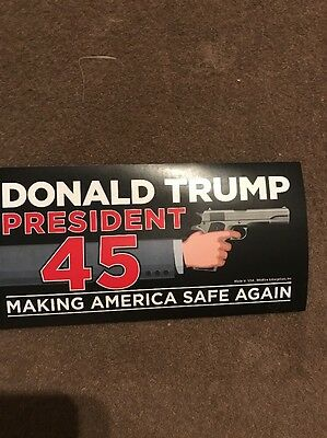 TRUMP MAKE AMERICA SAFE AGAIN 45 GUN STICKER 45TH Great .45 PRESIDENT