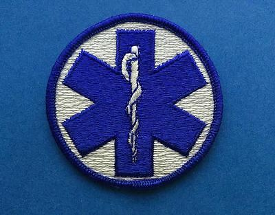 Vintage Star Of Life Logo EMS Medic Paramedic Uniform Jacket Work Shirt Patch