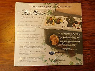 NEW / Sealed Creative Memories 7 X 7 Page Protectors 12 Sheets / 24 Pgs.