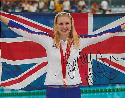 Becky Adlington Hand Signed 8x10 Photo, Olympic Gold Swimming Medalist, Rebecca