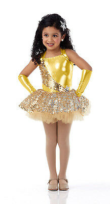 Swing On A Star Dance Costume Yellow Ballet Tutu & Headpiece Tap Dress Clearance