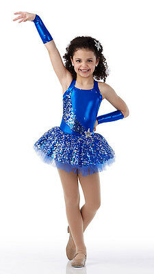 Swing On A Star Dance Costume Blue Ballet Tutu and Headpiece Tap Dress Clearance