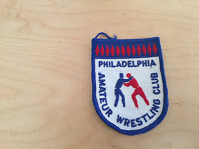 wrestling club, patch,philadelphia,pa, 60's patch, nos,