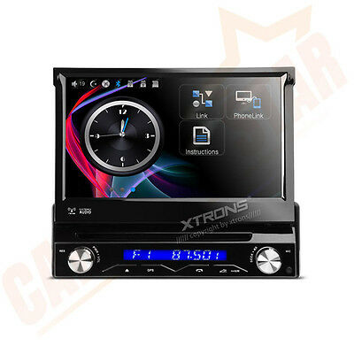 Single 1 DIN In Car Head Unit Stereo Radio CD DVD GPS Sat Nav Player Bluetooth