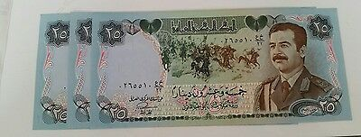 1 x Saddam Hussein 1986 25 Dinar Military Issue unc