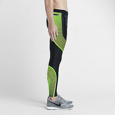 Nike Store Men's Running Tights | Nike Power Speed Voltage Green RRP £100
