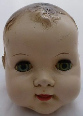 "VINTAGE 6"" Ideal?? BOY HEAD FITS Larger DOLL  FOR PARTS OR REPAIR."