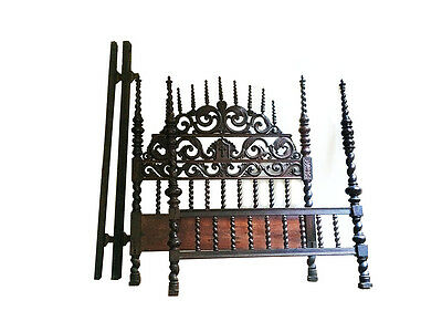 LOWERED PRICE ! Magnificent Spanish Colonial 18th Century Bishop Bed ! Rare