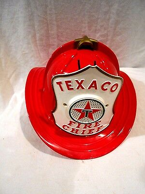Texaco Fire Chief Hat w/Microphone 1960's Hard Plastic by Brown & Bigelow