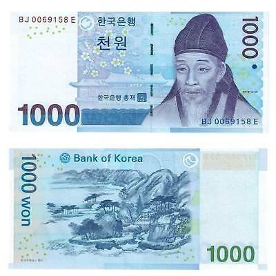 South Korea South korea 1000 Won 2007 Unc.Pick 54a #