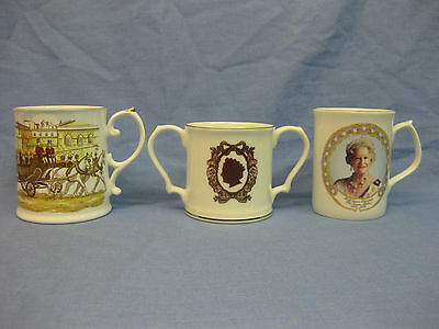 Queen Elizabeth The Queen Mother ~ Bone China Loving Mug & 2 Commemorative Mugs