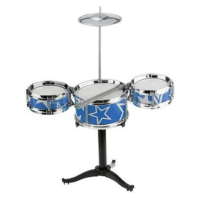 Children's Shelf Drum Percussion Kid's Musical Instruments Gift Toy Blue