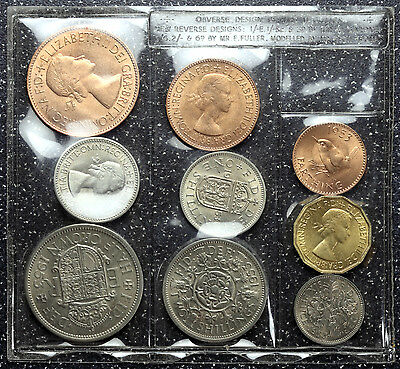 1953 Coin Set Farthing to Halfcrown ~ Coronation Year ~ Uncirculated