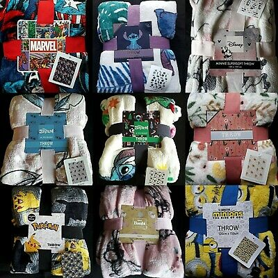 Bnwt Primark Character  Throw / Blanket Thrones Or  Harry Potter Lion King