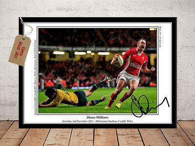 Shane Williams Wales Rugby Last Try Autographed Signed Photo Print