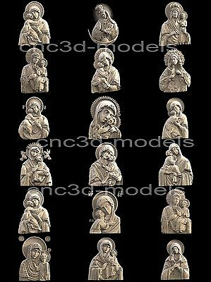 3D STL Models for CNC Artcam Aspire Collection Mother of God Virgin Mary 293
