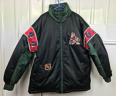 Vintage Authentic STARTER NHL Phoenix Coyotes Reversible Jacket Size Large L