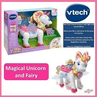 Vtech Toot-Toot Friends Fairy & Magical Unicorn Toy Brand New