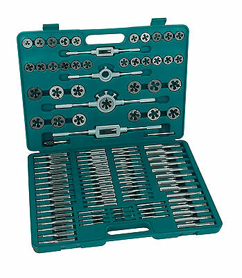 Mannesmann Tap and Die Set 110 pcs.Metric Thread Cutting Tool Premium Set GS TUV