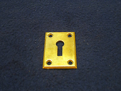 Antique Solid Brass Key Hole Escutcheon Victorian Arts and Crafts